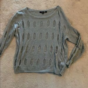 Large Forever 21 ripped sweater